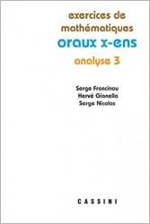 Exercices de mathématiques. Oraux X-ENS. Analyse 3.